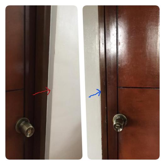 hamba door with arrow